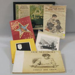 Group of Assorted Vintage Advertising and Ephemera