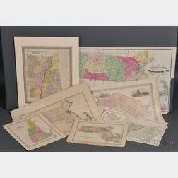 New England, Virginia, Washington, D.C., Seven Atlas Maps.