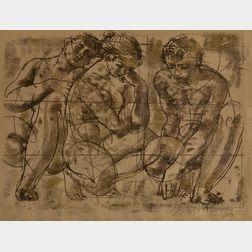 Hans Erni (Swiss, 1909-2015)      Three Figures