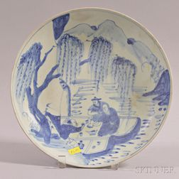 Blue and White Swatow-style Dish