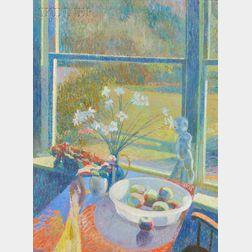 Sam Barber (American, b. 1943)      Through the Kitchen Window