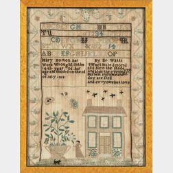 "Needlework Sampler ""Mary Norton,"""
