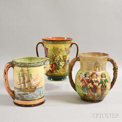 Three Large Royal Doulton Ceramic Vessels