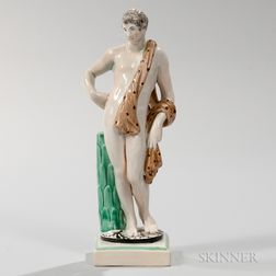 Marked Wedgwood Pearlware Figure of a Classical Man