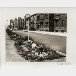 Walker Evans (American, 1903-1975)  Urban Street with Litter, Chicago, Made for the Fortune Magazine Article Chicago: A Camera Explora