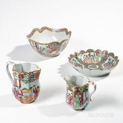 Four Rose Medallion Export Porcelain Table Items
