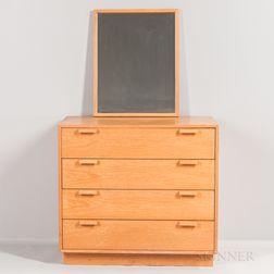 Charles Webb Oak Dresser and Mirror