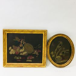 Two Framed Woolwork Pictures