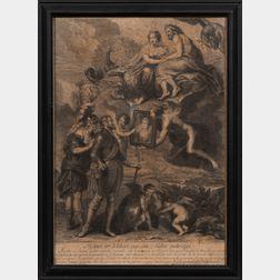 Jean Audran (French, 1667-1756) Engraver, After Sir Peter Paul Rubens (Flemish, 1577-1640) Henri IV délibére sur son futur mariage. Tit