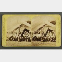 Noted Sioux Indian Chiefs Stereograph by Haynes