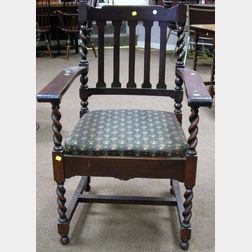 Stickley Bros. Armchair with Paper Label.