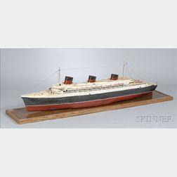 Three Scratch-Built Wood Models of Ocean Liners