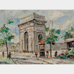 Andre Picot (Franco/American, 1910-1922)      Arc de Triomphe