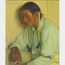Ernest Martin Hennings (American, 1886-1956)      Taos Pueblo Indian