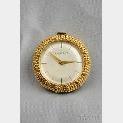 18kt Gold Travel Clock, Olga Tritt