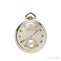 Art Deco Open Face 18kt Gold Pocket Watch, Vacheron & Constantin