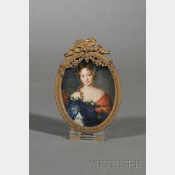 Portrait Miniature of Countess Grignan
