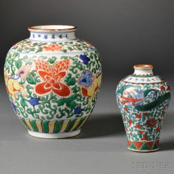 Two Ming-style Doucai   Vases