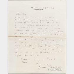 Hauptmann, Gerhart (1862-1946) Autograph Letter Signed, 12 October 1916.