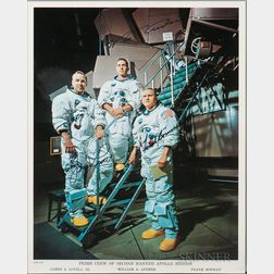 Apollo 8, Prime Crew, Autopen Signed Lithograph, December 1968.