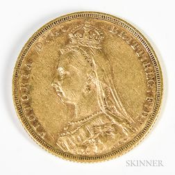 1890-M British Sovereign