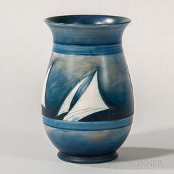 Moorcroft Yacht Design Vase