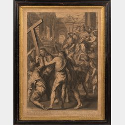 Grégoire Huret (French, 1606-1670)      Two Plates: XIII (The Scourging of Christ)