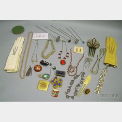 Four Bags of Assorted Estate and Costume Jewelry and Assorted Accessories
