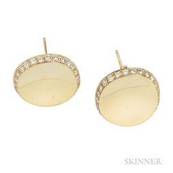 18kt Gold and Diamond Earrings, Robert Lee Morris