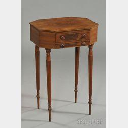 Federal Carved Mahogany and Mahogany Veneer Inlaid Work Table