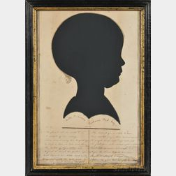 Large Framed Memorial Silhouette of a Young Girl