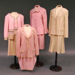 Four Escada and St. John Knit Wool Lady's Suits and Sweater Sets