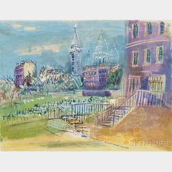 Jean Dufy (French, 1888-1964)      Montmartre