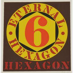 Robert Indiana (American, b. 1928)      6, Eternal Hexagon.