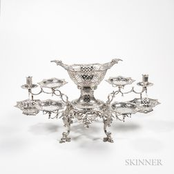 George III Sterling Silver Six-arm Epergne