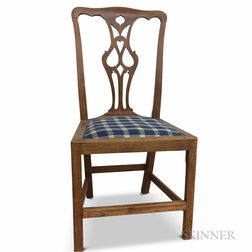 Chippendale Carved Walnut Side Chair
