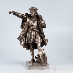 Gorham Sterling Silver Statue of Columbus