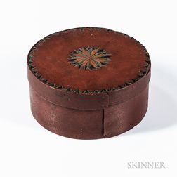 Carved and Red-painted Pantry Box