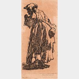 After Rembrandt van Rijn (Dutch, 1606-1669)       Two Framed Facsimile Prints: Rat Catcher and a Turbaned Man