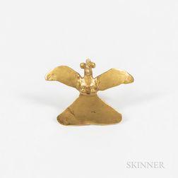 Diquis Gold Avian Pendant