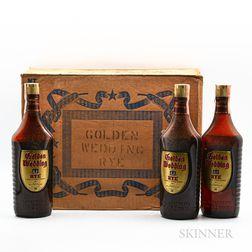 Golden Wedding Rye 5 Years Old, 12 4/5 quart bottles (oc)