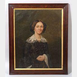 American School, 19th Century    Portrait of Mary McMillan-Gunn.