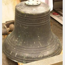 """William Blake & Co. Formerly H.N. Hooper & Co."" Cast Bronze Bell"