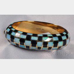 18kt Gold, Opal, and Black Jade Bracelet, Tiffany & Co.
