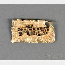 14kt Gold Modern Design Brooch Attributed to Chris Darway