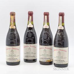 Chateau Beaucastel Chateauneuf du Pape 1990, 4 bottles