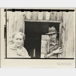 Walker Evans (American, 1903-1975)       Mining Camp Residents, Scott's Run, Morgantown, West Virginia