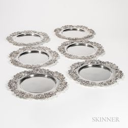 Four American Sterling Silver Plates