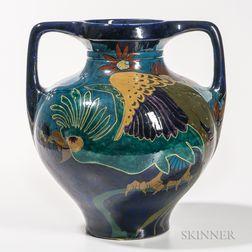 Large Rozenburg Pottery Vase