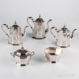 Five-piece American Coin Silver Tea and Coffee Service